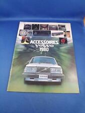 VOLVO ACCESOIRES 1980 SALES BROCHURE CATALOG CAR ADVERTISING PRINTED IN FRENCH