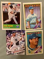 ❗️Fun Card Lot Of 6 MLB Baseball Cards Ranging From 1980s-2000s Mystery Cards❗️