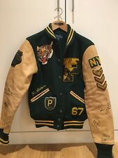 Sold Out XS Polo Ralph Lauren RL Tigers Leather Varsity Letterman Jacket NWT