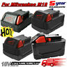 2X 18V 9.0Ah Li-Ion Replacement Battery For Milwaukee M18 48-11-1850 48-11-1840