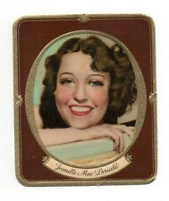Jeanette MacDonald 1937 Garbaty Passion Film Favorites Cigarette Card #69
