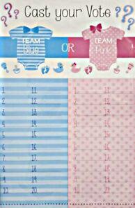 Gender reveal Is it a boy or girl? tally sheet