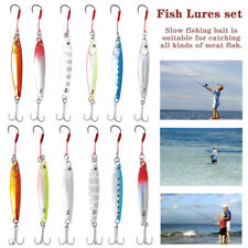 12PCS Fishing Lures Spinners Crankbaits Hooks Minnow Baits Tackle Crank Set