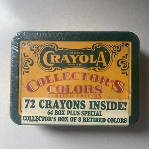 "Crayola Collectors Colors Tin Box of 8 ""retired Colors"" Crayola Crayons!"