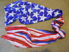 Fashion Scarf American Flag Patriotic Political Red White Blue Stars Stripes