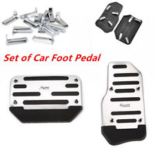 Silver Non Slip Car Automatic Transmission Pedal Cover Brake Clutch Accelerator