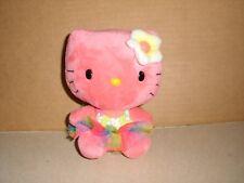TY Sanrio Hello Kitty Hawaiian Pink Tutu Flower 6'' Excellent