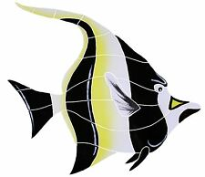 "Mosaic Tile Moorish Idol Fish for Swimming Pool or Wall Large 15"" -FREE SHIPPING"