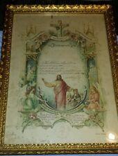1910 Right of Communion Art Certificate St. John's Lutheran Church German