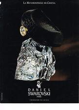 PUBLICITE ADVERTISING  1994   SWAROWSKI   la métamorphose du cristal
