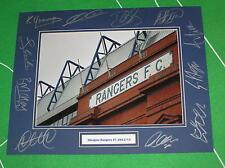 Glasgow Rangers FC Ibrox Stadium Photo Mount Multi-Signed x 11 2012/13 Squad