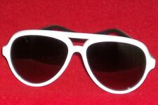 Foster Grant Womens Solar Accents White Acrylic Aviator Sunglasses # 1