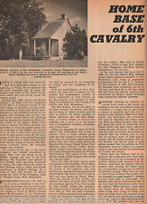 6TH  U. S. Cavalry History @ Fort Richardson+ genealogy