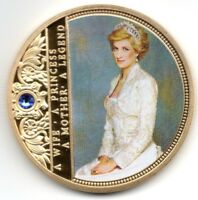 Diana Gold Coin Wife Princess Legend Gem Painting Autograph William Harry Mother