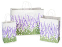 LAVENDER FIELDS Design Party Gift Paper Bag ONLY Choose Size & Pack Amount