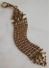 Nicely Detailed Signed Antique Victorian Gf Pocket Watch Chain