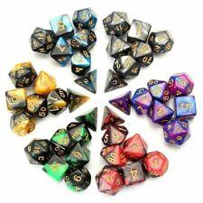 6PCS/Set Polyhedral Dice & Bag Multi Color DnD RPG 4 6 8 10 12 20 D4-D20 LML