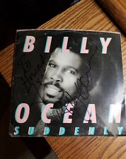 BILLY OCEAN Signed Autographed 45 Record SUDDENLY In Person!!