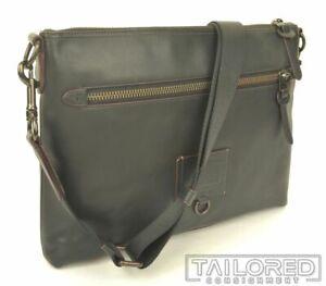 NEW - COACH Rivington Black Leather Crossbody Shoulder Messenger Bag 76189