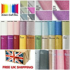20 x 22cm GLITTER fabric Sheet Cotton Craft Hair Bows UK Seller 60 colours