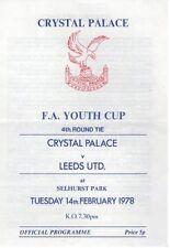 Crystal Palace Football Reserve Fixture Programmes (1970s)