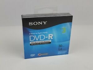 Lot of 3 SONY Handycam Mini DVD-R for DVD Camcorders 30 min 1.4 GB  NEW SEALED