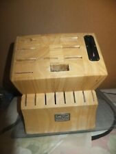 New listing Chicago Cutlery 17 Slot Wood Knife Block, Chicago Cutlery Knife Storage Block