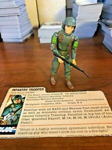 1983 hasbro gi G I JOE infantry trooper GRUNT w/ file ARAH card *COMPLETE*