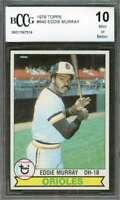 Eddie Murray Card 1979 Topps #640 Baltimore Orioles (50-50 Centered) BGS BCCG 10