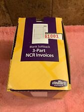 500 Cleaners Supply 3 Part Ncr Invoices Softback Dry Cleaners 1 Box New