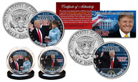 DONALD TRUMP Jan 20, 2017 INAUGURATION Official 2017 Kennedy JFK U.S. 2-Coin Set