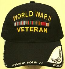SECOND WORLD WAR II 2 WW2 WWII AMERICAN CAMPAIGN USA VETERAN VET RIBBONS CAP HAT