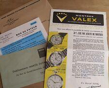 feuillets Publicitaires Montres Valex 1959 Ets Marcel Duval chronosport Dames