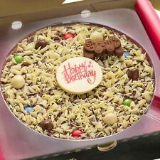 """7"""" Boys Happy Birthday Gamer Gourmet Milk White Chocolate Pizza Sweet Gift"""