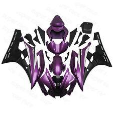 Hot ABS Black Purple Fairing Bodywork Injection Kit For 2006-2007 Yamaha YZF R6
