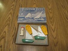 Vintage Milton Bradley Mb Tillicum Tiny Fleet T-80 Wood Boat Wooden Sailboat