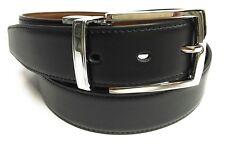 Cinturon de Piel Reversible  Hombre Color Negro y Marron ( 2 CINTURONES EN 1)