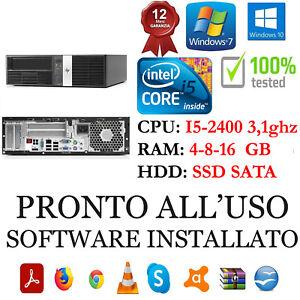 COMPUTER HP RP5800 I5-2400 RAM 4-8-16GB DISCO SATA O SSD USB 2.0 GARANZIA 1 ANNO
