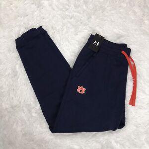 Under Armour Auburn University Tigers Mens Fleece Pants Size L Large Jogger Blue