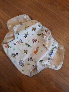 Motherease Reusable Nappy Wrap, Airflow Medium, Safari Animal Print
