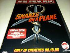 Snakes on a Plane Dvd Includes Sneak Peeks New Samuel L Jackson