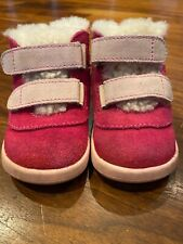UGG PRITCHARD boots shoes Suede Shearling Pink Toddler Size 2/3