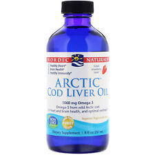 Nordic Natural Arctic Cod Liver Oil, 1060 mg Strawberry 237 ml