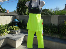 GLYDER 3 Piece Lot!!  Tank, Fusion Tank, Crop Pants, All XSmall, Neon Yellow NWT