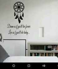 Dream Catcher Feather Wall Quote Sticker Decal Mural Lucky Home Wall Art Decor