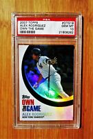 2007 Topps Own The Game #19 ALEX RODRIGUEZ - PSA 10 GEM MINT