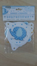 Elephant Baby Shower Jointed Banner (boy)