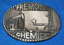 Fremont Chemical Riverton Belt Buckle, Complete & Functional