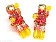 Handmade, LEGO® Marvel Iron Man Transparent Cufflinks, Gold Plated Toggles