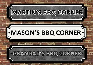 PERSONALISED Barbecue BBQ Grill Patio Sign Plaque Home Garden Party Outdoor Bar.
